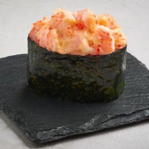 Запечённые суши с креветкой