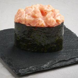 Запечённые суши с лососем